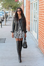 Black-leather-stella-mccartney-boots-black-paisley-urban-outfitters-dress