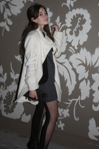 Target dress - forever 21 jacket - forever 21 coat - Urban Outfitters tights - g