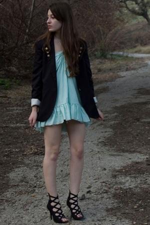 blue  dress - black Bakers shoes - black Target blazer