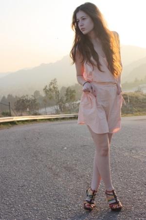 pink Quiksilver dress - green gojanecom shoes