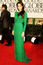 green versace dress