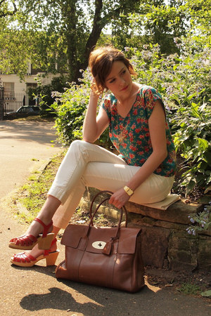 Mulberry bag - Zara pants - Swedish Hasbeens for H&M sandals - Topshop blouse -