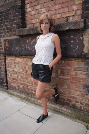 lace top Topshop top - Kate Kanzier shoes - Vintage upcycled Rokit bag