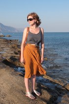 Primark skirt - vintage from Ebay bag - Kate Kanzier sandals - Primark top