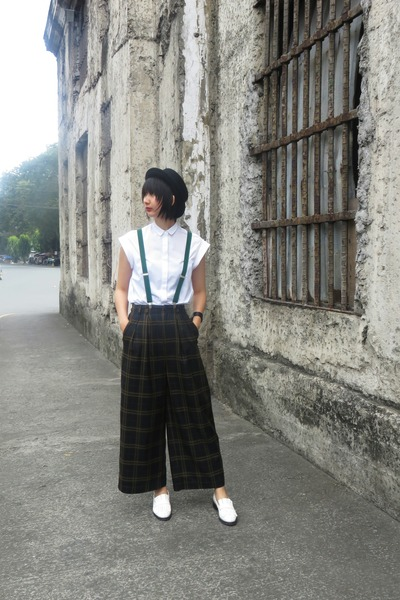 staccato shoes - H&M hat - Zara shirt - w closet pants