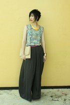 from hong kong top - Zara pants - Millies wedges