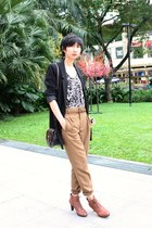 Nine West Easy Spirit boots - H&M blazer - from hong kong purse - Zara pants - f