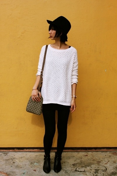 belle boots - from hong kong hat - Mango sweater