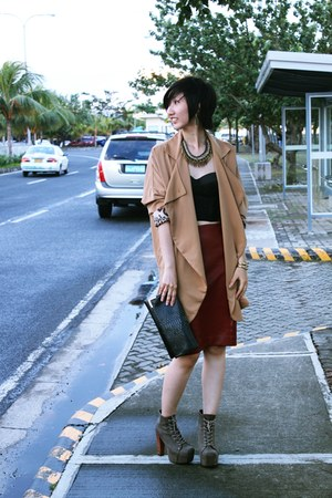 Hong Kong blazer - Novo shoes - Forever 21 top - Zara skirt
