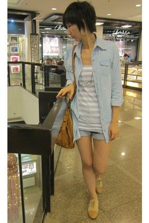 Leggy Press shirt - cotton on top - Pill shoes - Zara shorts