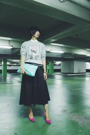 Zara sweater - Chloe & Davis bag - Zara skirt - janilyn heels