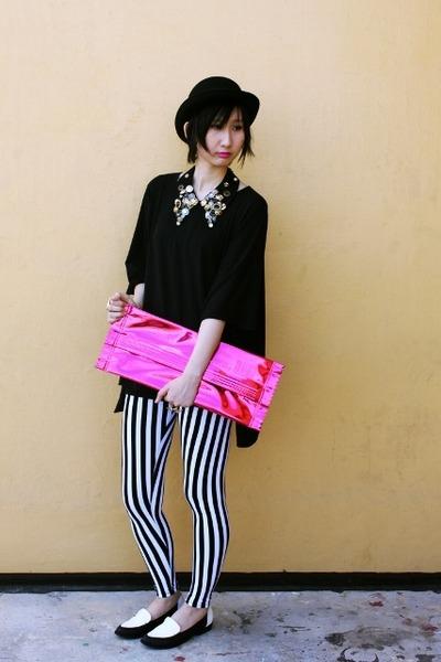 Dangerfield hat - Plata shoes - From Seoul Korea leggings - H&M bag