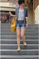 Zara blazer - Pill shoes - Zara shorts