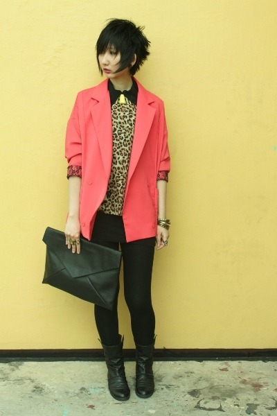 From Seoul Korea blazer - Joy & Peace boots - Mango leggings