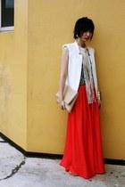 Mango skirt - Zara vest - H&M top - Jessica Simpson sandals