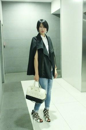 villains sf shoes - Mango jeans - from hong kong jacket - kate spade bag