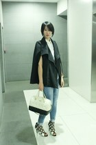villains sf shoes - Mango jeans - from hong kong jacket - kate spade bag