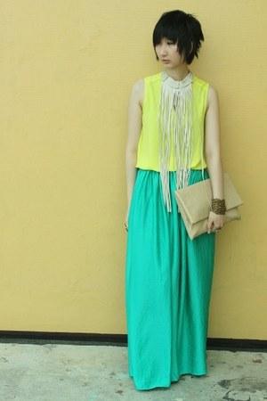Mango skirt - Forever 21 top - Jessica Simpson sandals