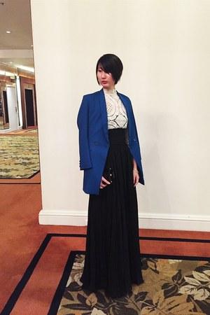 from hong kong top - from hong kong blazer - Frankie de Leon skirt