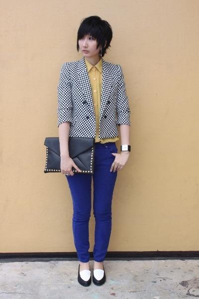 Zara blazer - Plata shoes - From Seoul Korea blouse - Zara pants
