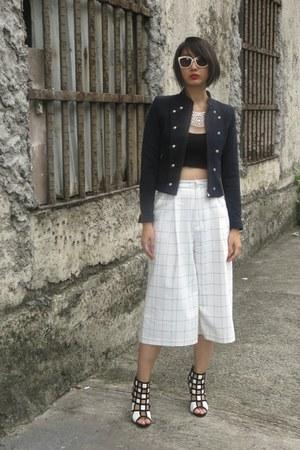 villains sf shoes - Prada sunglasses - Zara pants - Topshop top