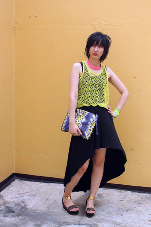 cotton on skirt - H&M bag - from hong kong top