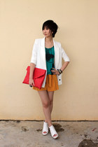 Venilla Suite wedges - from Seoul blazer - H&M top