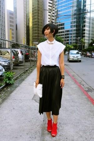 Zara bag - Jessica Simpson shoes - Zara skirt - H&M accessories - Zara top
