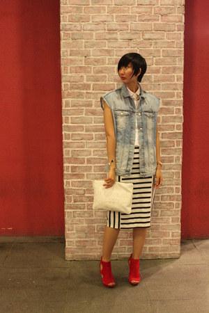 Zara shirt - Jessica Simpson shoes - Zara skirt - Zara vest