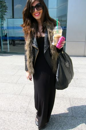 Isabella Oliver dress - Prada sunglasses - H&M vest - Repetto shoes