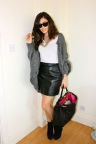 vintage skirt - Office shoes - truly madly deeply shirt - Fendi bag