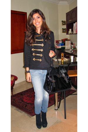Siwy Denim jeans - H&M jacket - YSL muse two purse