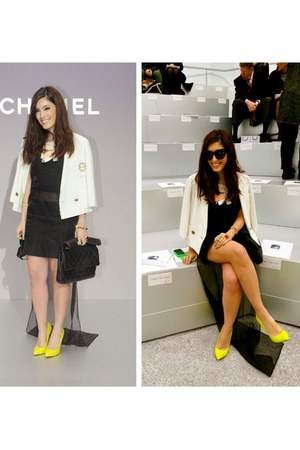 Topshop heels - Stella McCartney dress - Chanel bag