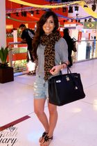 Louis Vuitton scarf - kate spade shoes - American Apparel shirt - hermes birkin