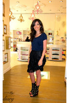 Anna Sui skirt - Tata Naka shoes - Leyendecker t-shirt