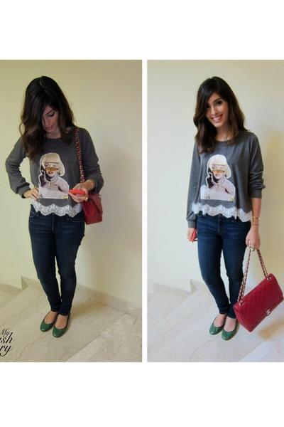 Chanel Sweatshirt Bag Jeans Chanel Bag Sugar