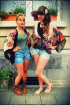 sky blue H&M shorts - light blue H&M shorts - light pink Taobao accessories