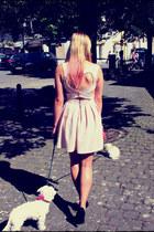 off white Top Shop dress - bubble gum Kevin Murphy accessories