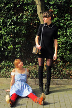 black H&M dress - sky blue Asiajam dress