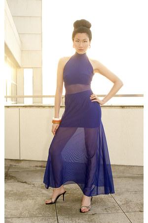salmon Forever 21 bracelet - white Forever 21 bracelet - blue Cache dress
