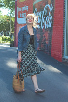 black Porridge skirt - jean J Crew jacket - black Express sandals