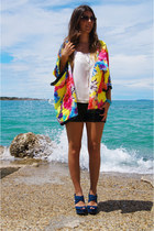 bubu with love&tamara pranjić blouse - Bershka shorts - Ebay sunglasses