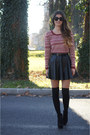 Ruby-red-springfield-sweater-black-calzedonia-socks-black-tezenis-skirt