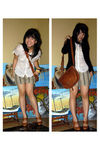 Zara shirt - bought at bandung blazer - Ralph Lauren purse - handmade shorts