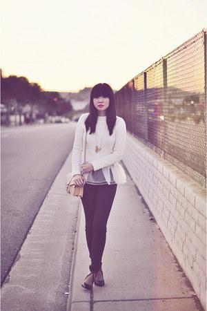ivory organza sweater