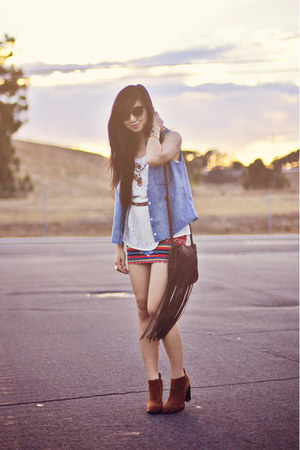 tribal Forever 21 skirt - suede Jeffrey Campbell boots - leopard asos belt