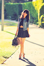 Dark-gray-polka-dot-skirt-brandy-melville-skirt-black-crop-nameless-top