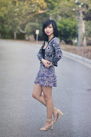 black Missguided US cardigan - blue Forever 21 skirt