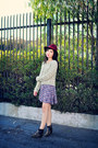 Violet-floral-lucca-couture-dress-beige-cable-knit-free-people-sweater
