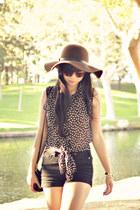 vintage hat - Audrey 31 shirt - Forever 21 shorts